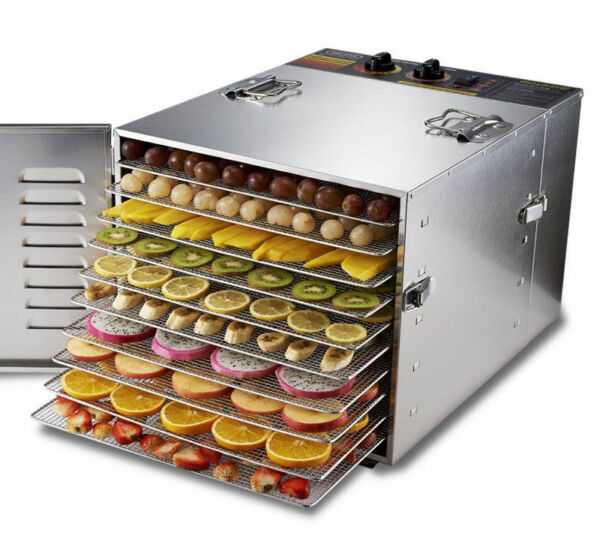 10 Layers Stainless Steel Food Dehydrator Fruit Vegetable Drying Machine 110V
