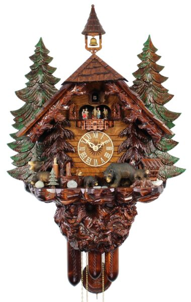 HerrZeit Cuckoo Clock - The Bear Family AH UK 51 8TMT NEW