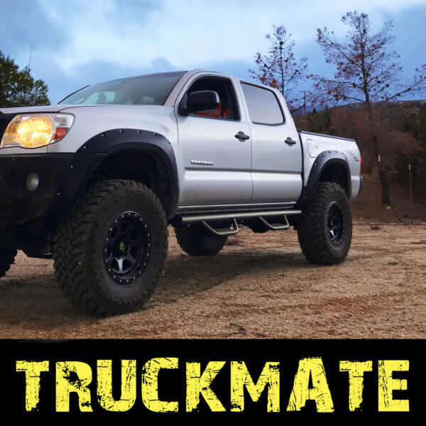 Running Boards Steps Hoop Steps Nerf Bar fit 05-18 Toyota Tacoma Crew Double Cab