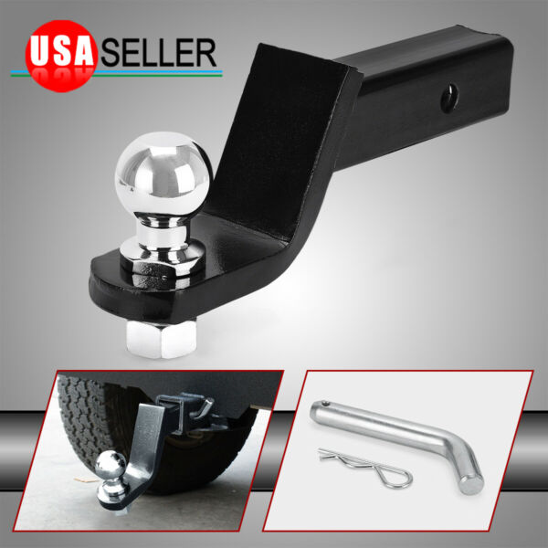 Ball mount 4quot; Drop Trailer Hitch 2quot; Ball fits 2quot; Receiver amp; Hitch Pin Tow $24.99