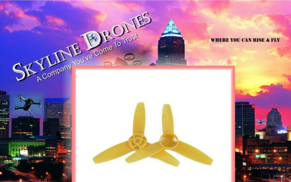2PCS Propellers Main Blade YELLOW Props CW+CCW for Parrot Bebop Drone 3.0