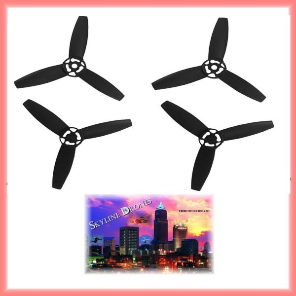 4 PCS Propellers Main Blade BLACK Props CW+CCW for Parrot Bebop Drone 3.0