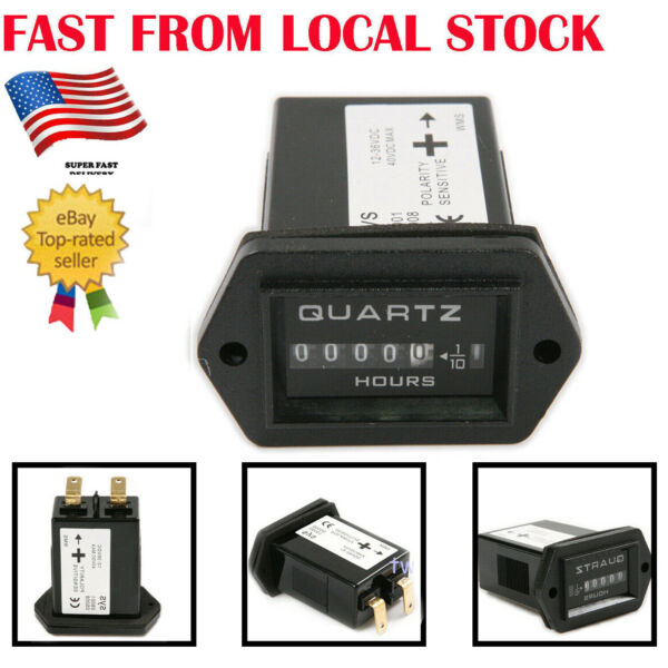 DC12~36V Digital Engine Hour Meter Timer for Marine Boat Lawn Truck Tractor inUS