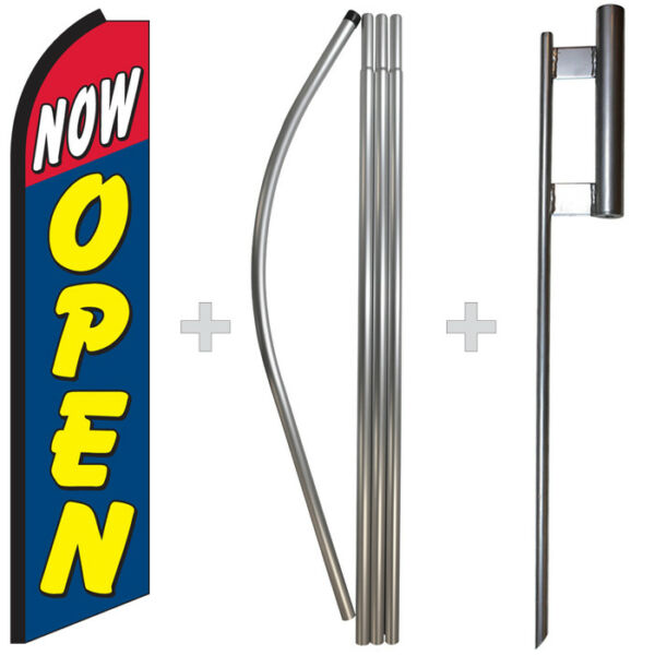 Now Open 15#x27; Tall Swooper Flag amp; Pole Kit Feather Super Banner