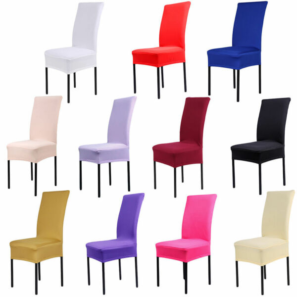 Stretch Spandex Chair Covers Slipcovers Dining Room Wedding Banquet Party Décor GBP 9.39