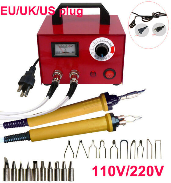 110220V Pyrography Machine Crafts Wood Burning Tools Kit Set+Dual Pen+Socket