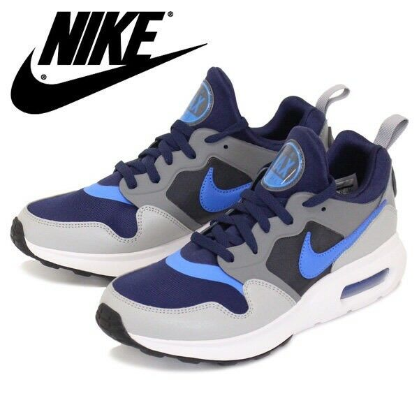 NEW NIKE AIR MAX PRIME MEN'S BASKETBALL SHOES SNEAKERS BLUE GREY WHITE SZ/ 12