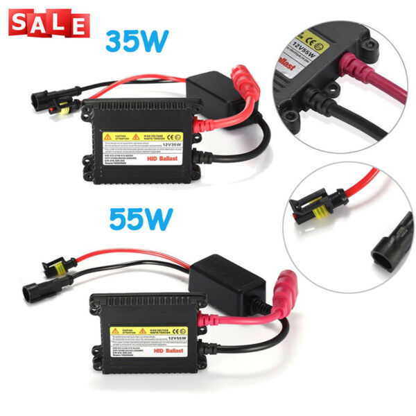 35W / 55W DC Digital Slim HID Replacement Ballast Xenon Conversion Kit Universal
