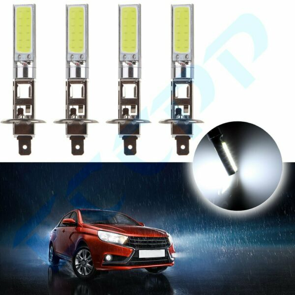 4x Ultra White H1 CREE LED Headlight High Low Beam Light SMD Bulbs Vehicle Lamp