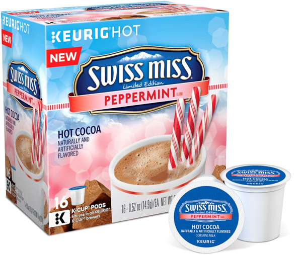 Keurig 2.0 Swiss Miss Peppermint flavor Chocolate Hot Cocoa KCups 16 pod 092018