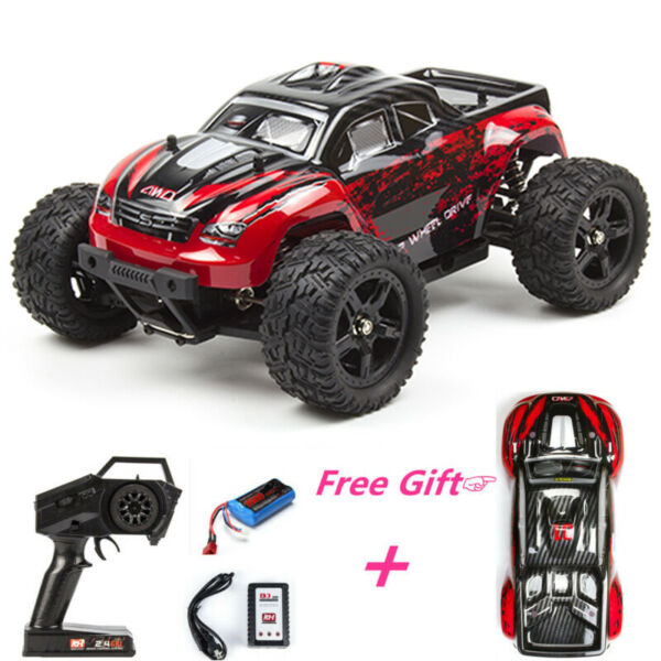 Red REMO HOBBY 4WD RC Car 1631 1/16 Scale Off-road Short-haul Monster Truck