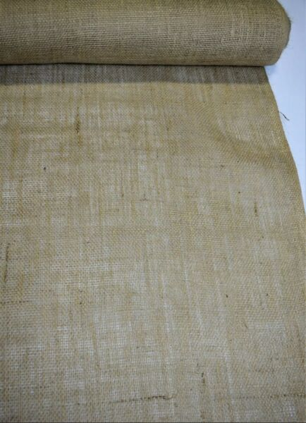 Burlap Jute Fabric Natural 8 Oz Vintage Upholstery Tabletop 60quot; Wide By The Yard