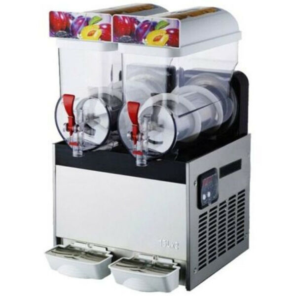Commercial 2 Tank Frozen Drink Slush Slushy Making Machine Smoothie Maker 30L