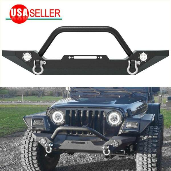 For 87-06 Jeep Wrangler TJ YJ Rock Crawler Front Bumper W/ D-Ring