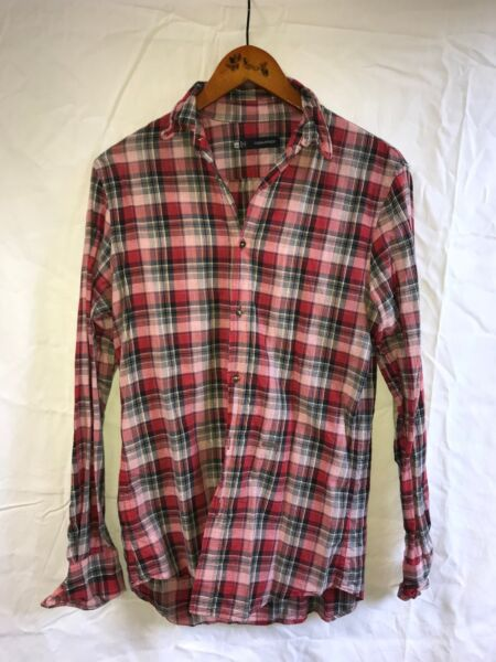DSQUARED2 Shirt Plaid size 44 Small Runway SS 2013 $125.00