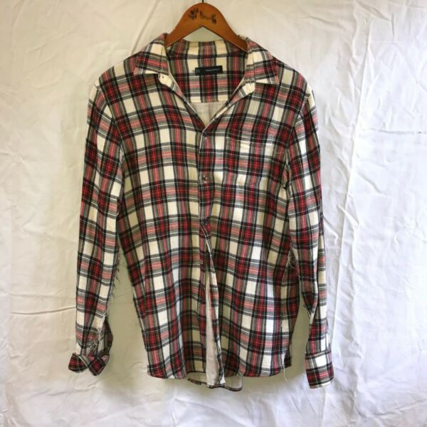 DSQUARED2 Shirt Plaid size 46 Small Runway $125.00