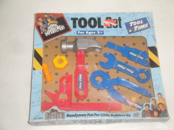 VINTAGE TIM ALLEN HOME IMPROVEMENT TOOL TIME TOY TOOL SET DSI TOUCHSTONE RARE