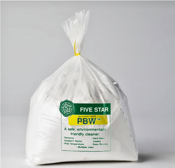 Powdered Brewery Wash PBW Bag Food Grade Cleaner for Beer Wine Keg Carboy Kettle