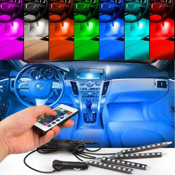 12 LED Car Charge Interior Floor Decorative Atmosphere Light Accessories Lamp US