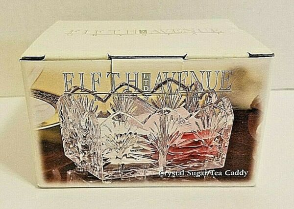 Fifth Avenue Crystal Portico Sugar Tea Caddy New in Box