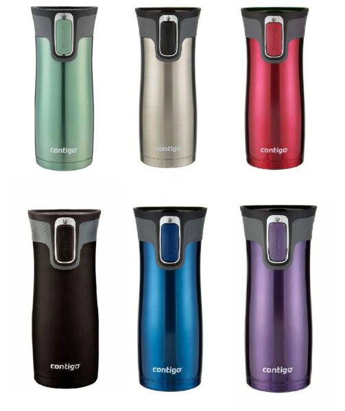 2 X Contigo West Loop Thermos Coffee Water Travel Mug Drink Flask Autoseal 473ml