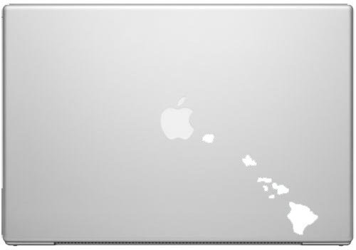 Hawaii Aloha State Kona Maui Surf Pride Decal Sticker White 5quot; Vinyl Decal for