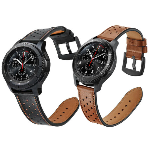 For Samsung Gear S3 Frontier  Classic Watch Genuine Leather Wrist Band Strap