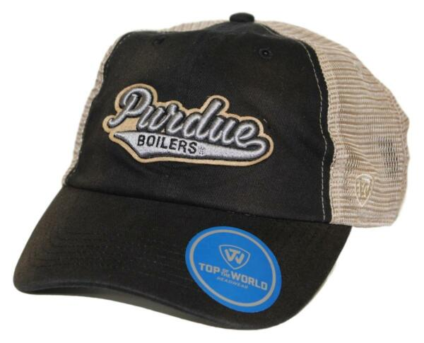 Purdue Boilermakers NCAA Top of the World quot;Clubquot; Adjustable Mesh Back Hat $5.95