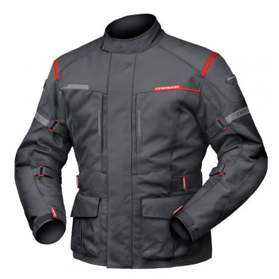 L Large Mens DriRider Summit Evo Touring Jacket Motorcycle Waterproof Black