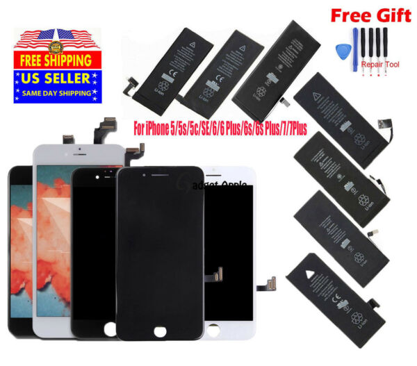 OEM LCD Screen Digitizer Assembly Battery Replacement for iPhone 6s 5 6 6S 7P