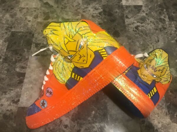 Custom shoes Air Force ones Saiyan Pride Size 7