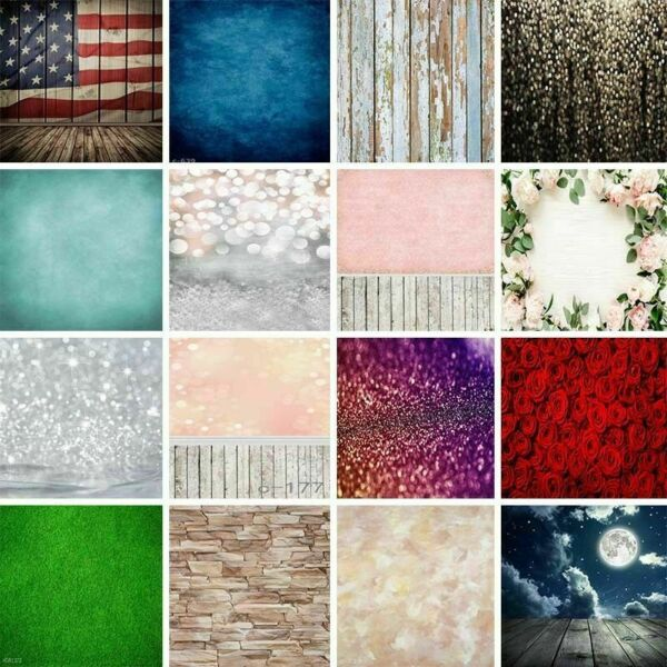 32-Type 5x7ft Vintage Painted Wood Photography Backdrops Flower Studio Props 3x5