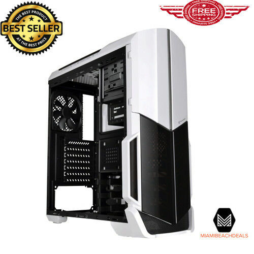 Computer Case Fans Included Mid Tower Desktop Gaming PC Cover White Snow Edition