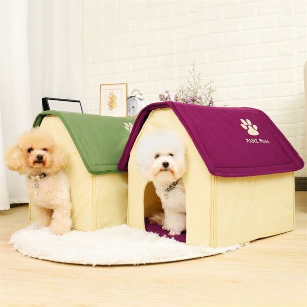 Small Dog House Pet Bed Cozy Puppy Cave Kennel Stable Portable Cat Pad Indoor
