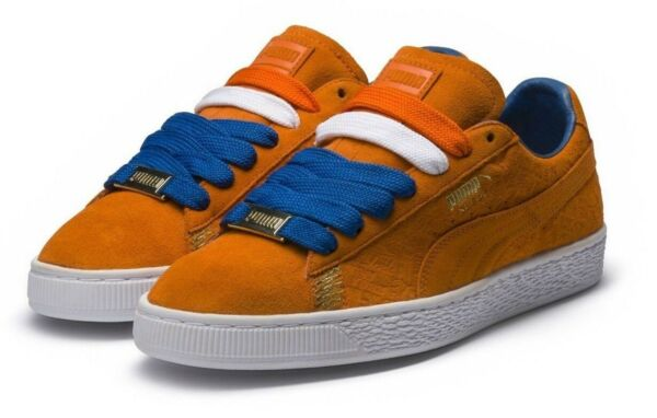 [366293-01] Mens Puma Suede Classic NYC Trainers Sneaker - Orange