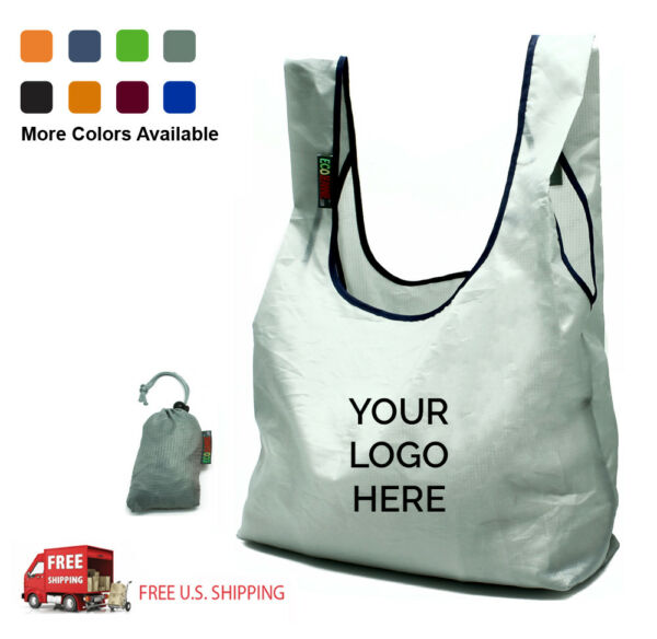 Custom Printed Reusable Ripstop Nylon Bags - Wholesale Logoed Eco-Friendly Bags