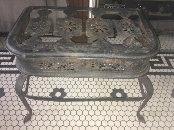Antique Forge Carriage Buggy Cover Wagon Step FootStool Primitive Amish PA Dutch