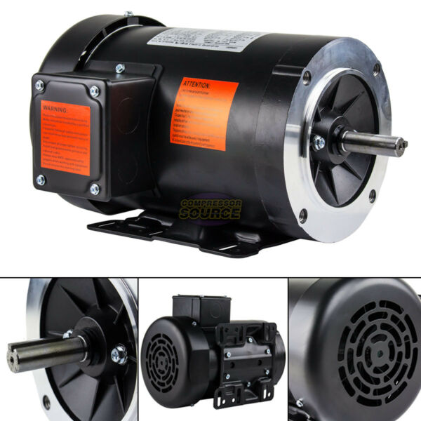 3 HP Electric Motor 3 Phase 56HC Frame 3600 RPM TEFC 208 230 460 Volt New $289.95