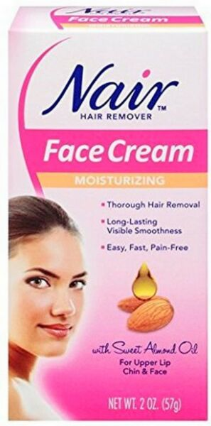 Nair Hair Remover Moisturizing Face Cream w/ Sweet Almond Oil 2oz