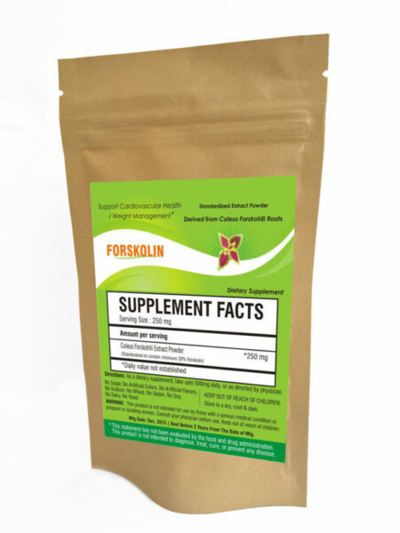 PURE Forskolin Extract Weight Loss Powder Coleus Forskohlii Standardized to 20%