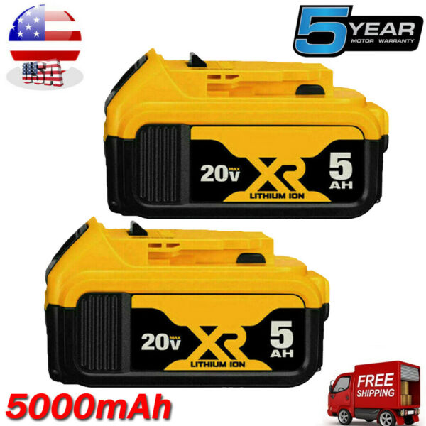 2 Pack For DeWalt 20V 20 Volt Max XR 4.0 Amp Lithium Ion Battery Pack DCB204-2