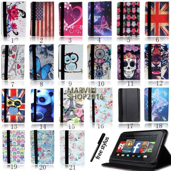 For Amazon Kindle Fire 7quot; 8quot; 8.9quot; 10quot; Tablet FOLIO LEATHER STAND CASE COVER