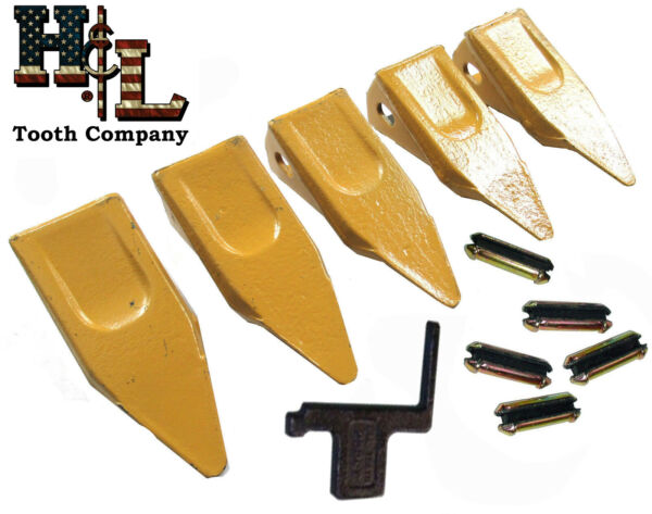 23P Pick H&L Bucket Teeth (5 Pack) + 23FP Flex Pins Made in USA by H&L Tooth Co
