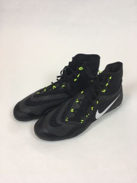 Nike Hypersweep Black Volt Wrestling Shoes - Size 15 - Brand New