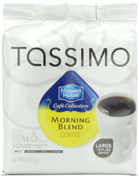 Maxwell House Morning Blend Coffee Mild Roast T-Discs for Tassimo Brewing
