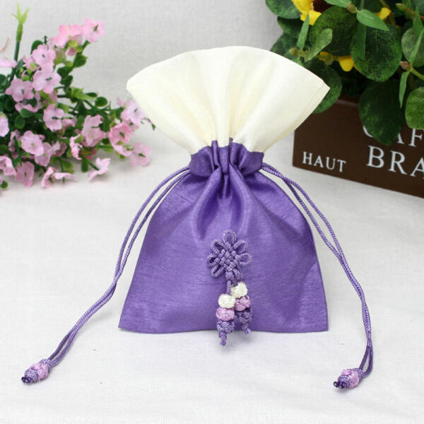 TooGet Sachet Gift Bags Ice Silk Fabric Bags Drawstring Cotton Bags - 6-Pack