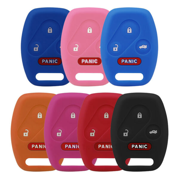 Durable 4-BUTTON SILICONE CAR KEY KEYLESS FOB COVER CASE FOR HONDA ACCORD CIVIC