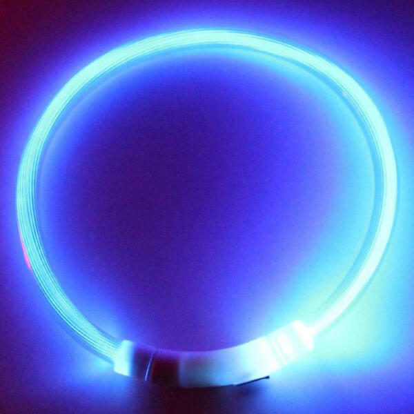 RECHARGEABLE LED Light-up Flash GLOW COLLAR Dog Pet Safety MICRO USB adjustable $7.50