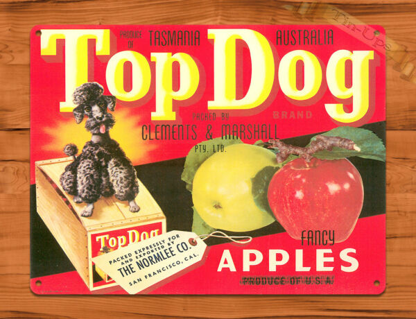 TIN SIGN quot;Top Dog Apples quot; Food wall decor $7.35