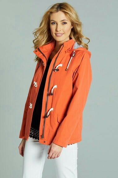 New In Bonmarche Short Length Waterproof Coat with Toggle Last Size 12